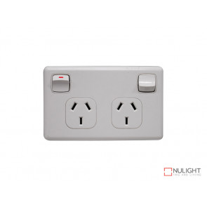 Double Power Point With Satin Cover VBL