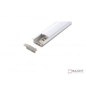 Vibe ALP001 Aluminium Profile With PMMA Opal Diffuser 2M Polycarbonate 17.1x8mm VBL