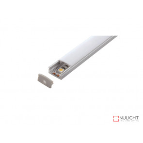 Vibe ALP002 Aluminium Profile With PMMA Opal Diffuser With 1M Polycarbonate 17.1x8mm VBL