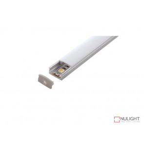 Vibe ALP002 Aluminium Profile With PMMA Opal Diffuser 2M Polycarbonate 17.1x8mm VBL