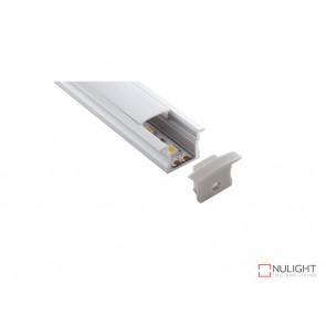 Vibe ALP003 Aluminium Profile With PMMA Opal Diffuser 2M Polycarbonate 17.1x15.3mm VBL