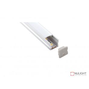 Vibe ALP004 Aluminum Profile With PMMA Opal Diffuser 2M Polycarbonate 17.1x15.3mm VBL
