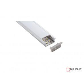 Vibe ALP013 Aluminium Profile With PMMA Opal Diffuser, 1M Polycarbonate 23.5x10mm VBL