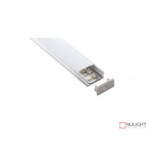 Vibe ALP014 Aluminium Profile With PMMA Opal Diffuser 1M Polycarbonate 23.5x10mm VBL