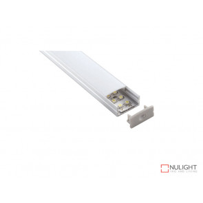 Vibe ALP014 Aluminium Profile With PMMA Opal Diffuser 2M Polycarbonate 23.5x10mm VBL