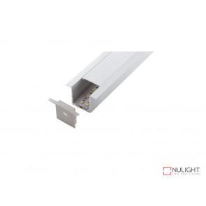 Vibe ALP017 Aluminium Profile With PMMA Opal Diffuser 1M Polycarbonate 35.2x34.9mm VBL