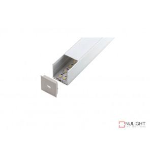 Vibe ALP018 Aluminium Profile With PMMA Opal Diffuser 1M Polycarbonate 35.2x34.9mm VBL