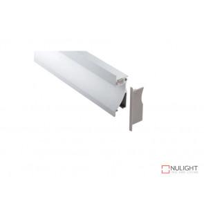 Vibe ALP023 Aluminium Profile With PMMA Opal Diffuser 1M Polycarbonate 26.2x78mm VBL