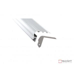 Vibe ALP024 Aluminium Profile With PMMA Opal Diffuser 2M Polycarbonate 80x50mm VBL