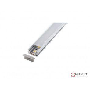 Vibe ALP033 Aluminium Profile With PC Opal Diffuser 1M Polycarbonate 21.4x3mm VBL