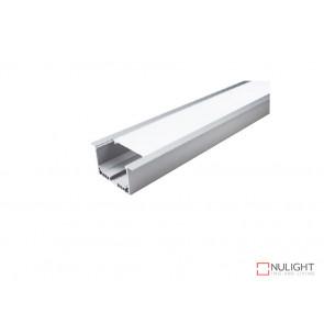 Vibe ALP045 Aluminium Profile With PMMA Opal Diffuser 2M Polycarbonate 50x32mm VBL