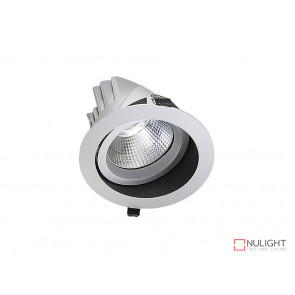 Vibe 34W Cool White Round LED Shoplight Downlight White VBL