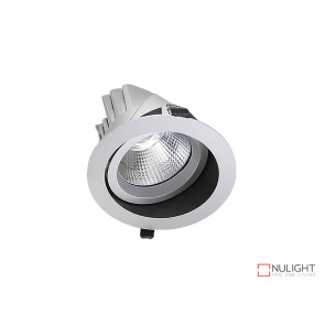 Vibe 34W Natural White Round LED Shoplight Downlight White VBL