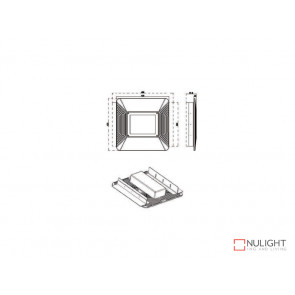420x420 Recessed Kit To Suite The VBLLB-420 Series Canopy Lights VBL