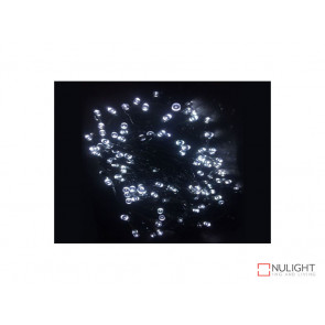 White Solar powered Christmas Lights 30m Length VBL