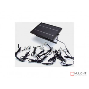 5x Warm White Solar Recessed Deck Lights Stainless Steel VBL
