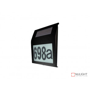 Illuminated House Numbers Light With Built In Solar Panel In Black VBL