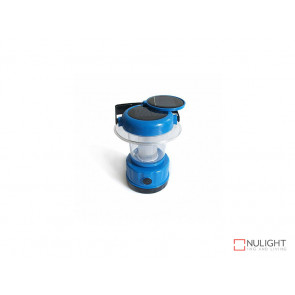 Portable Solar Lantern with built in Panel In Blue VBL