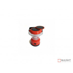 Portable Solar Lantern with built in Panel In Red VBL