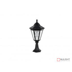 3.8W Bright White Solar Pillar Light In Black With Motion Sensor VBSLDPIL0012A3-8WPIR VBL