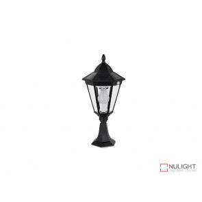 3.8W Bright White Solar Pillar Light In Black With Motion Sensor VBSLDPIL0012A3-8WPIR VBL