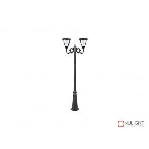 12.4W Bright White Solar Post Light In Black VBSLDPL0007B-12-4W VBL