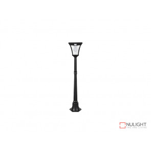 6.2W Bright White Solar Post Light In Black With Motion Sensor VBSLDPL0008A-S2-6-2W VBL