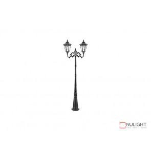 7.6W Bright White Solar Post Light In Black VBSLDPL0012B-7-6W VBL