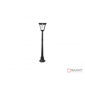 6.2W Bright White Solar Post Light In Black With Motion Sensor VBSLDPL0018A-S2-6-2W VBL