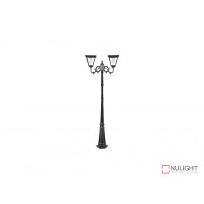 12.4W Bright White Solar Post Light In Black VBSLDPL0018B-12-4W VBL