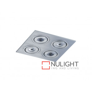 Vibe 4x3W Cool White Silver Square Centre Tilt LED Downlight VBL