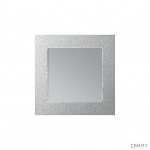 Vibe SQ Recess LED Wall LT 3K c/w White & Silver Face VBL