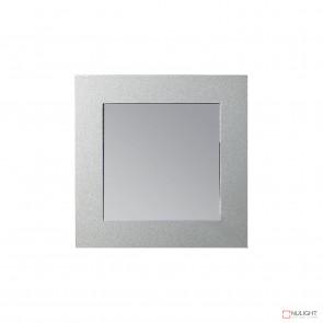 Vibe SQ Recess LED Wall LT 3K c/w White & Silver Face VBL