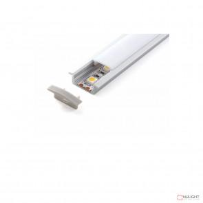 Vibe ALP001 Aluminium Profile With PMMA Opal Diffuser 1M Polycarbonate 17.1x8mm VBL