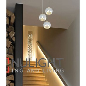 JEDI PENDANT LED Round 20W 3000K SAND White Aluminium + Steel OD140mm (2160 Lumens) CLA