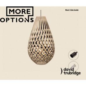 Koura Black 1 Side Inside David Trubridge Pendant DAV