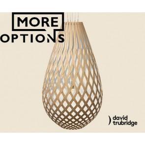 Koura White 1 side David Trubridge Pendant DAV