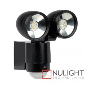 Flood Led Pir 2X5W Black ASU