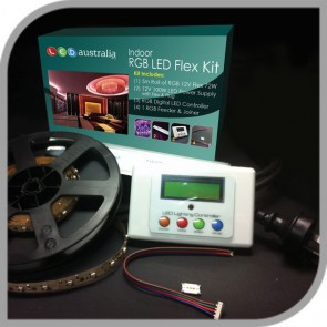 Weatherproof RGB Colour Change Low Output LED Flex Kit LED Australia