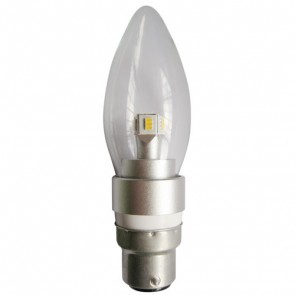 LED Clear Candle 4W BC Dimmable Light Bulb CLA Lighting