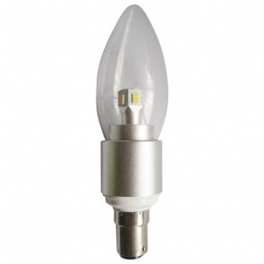 LED Clear Candle 4W SBC Dimmable Light Bulb CLA Lighting