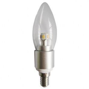 LED Clear Candle 4W SES Dimmable Light Bulb CAN7D CLA Lighting