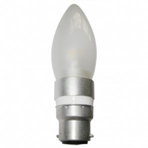 LED Frosted Candle 4W BC Dimmable Light Bulb CAN10D CLA Lighting