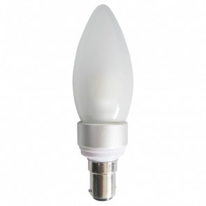 LED Frosted Candle 4W SBC Dimmable Light Bulb CAN16D CLA Lighting