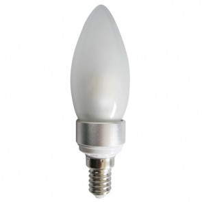 LED Frosted Candle 4W SES Dimmable Light Bulb CAN15D CLA Lighting