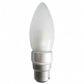 LED Frosted Candle Light Bulb CAN14 CLA Lighting