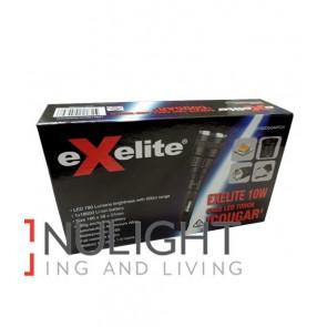 EXELITE LED TORCH Black CREE 10W IP65 Range 500m (780 Lumens) CLA