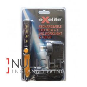 EXELITE LED 4 + 1 ANGLE WORK LIGHT & TORCH CLA