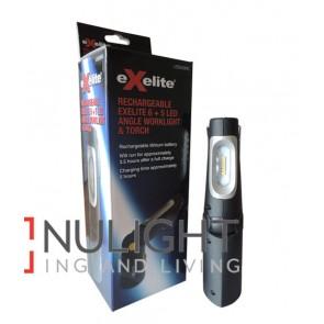 EXELITE LED 6 + 5 ANGLE WORK LIGHT & TORCH CLA
