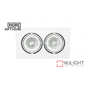 Two Lights 12v MR16 Square Double pivot downlight ORI